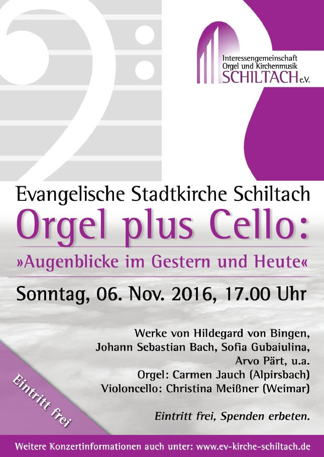 Orgel plus Cello