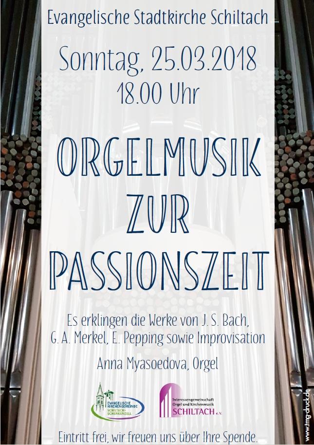 Orgelmusik zur Passionszeit