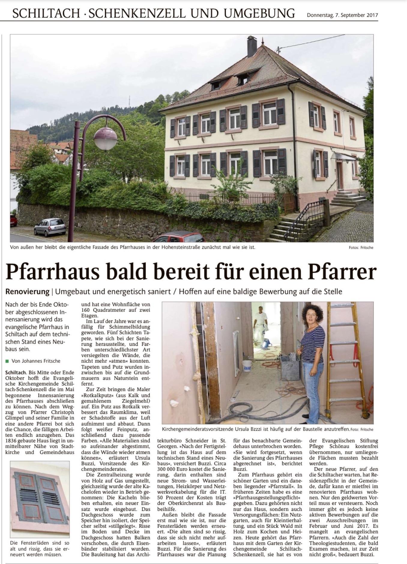 Pfarrhaus Presse