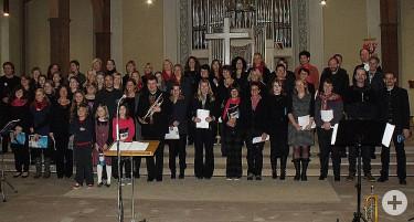 Abschluss des Gospel-Workshops am 07.10.2012 in der Stadtkirche