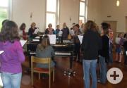 Workshop im Saal des Martin-Luther-Hauses
