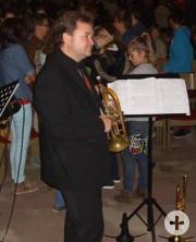 Excellente Begleitmusiker - egal ob Trompete oder Schlagzeug