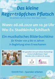 Bilderbuchkino Regentropfen Pflatsch